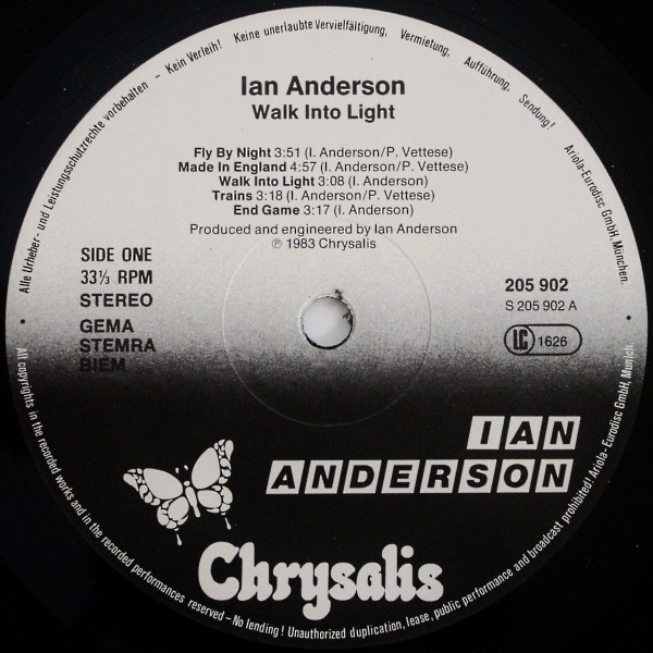 Ian Anderson - Walk Into Light (LP, Album)