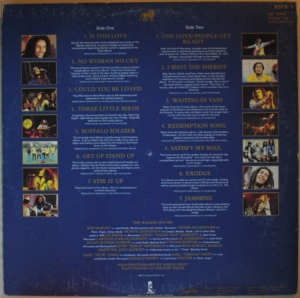 Bob Marley & The Wailers - Legend - The Best Of Bob Marley And The Wailers (LP, Comp, Gat)