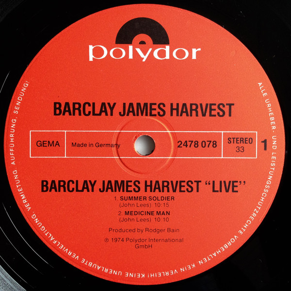 Barclay James Harvest - Live (2xLP, Album, Gat)