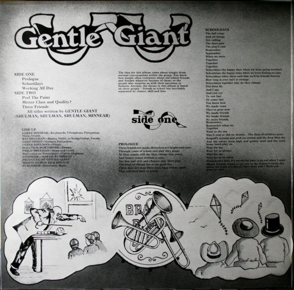 Gentle Giant - Three Friends (LP, Album, RE, Spa)