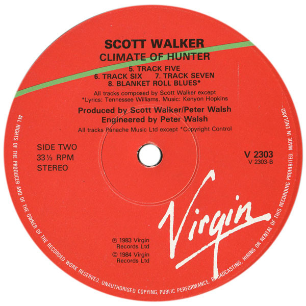 Scott Walker - Climate Of Hunter (LP, Album)