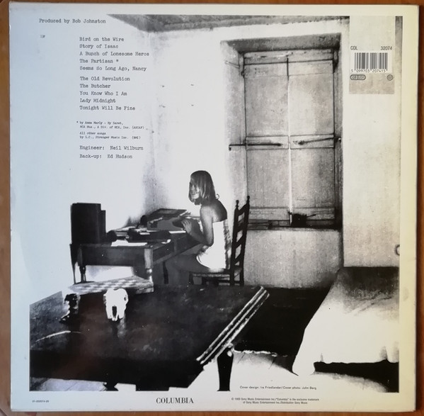 Leonard Cohen - Songs From A Room (LP, Album, RE)