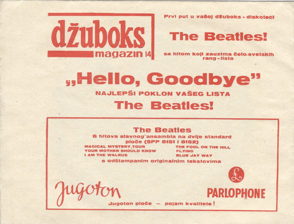 The Beatles - Zdravo, Do Viđenja  (Hello, Goodbye) (Flexi, 6