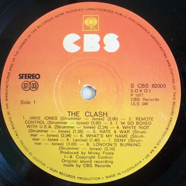 The Clash - The Clash (LP, Album)