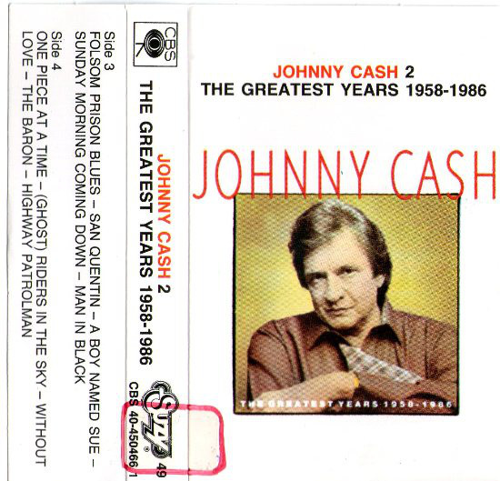 Johnny Cash - The Greatest Years 1958 - 1986 - 2 (Cass, Comp)