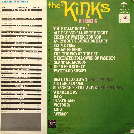 The Kinks - Hit Singles (LP, Comp)