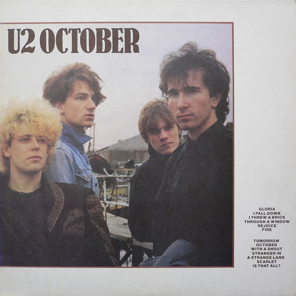 U2 - October (LP, Album, RE, Whi)
