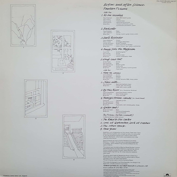 Brian Eno - Before And After Science (LP, Album)
