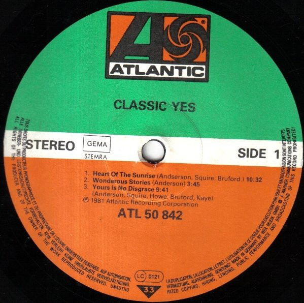 Yes - Classic Yes (LP, Comp)