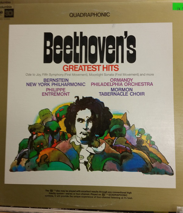 Beethoven* - Beethoven's Greatest Hits (LP, Comp, Quad)