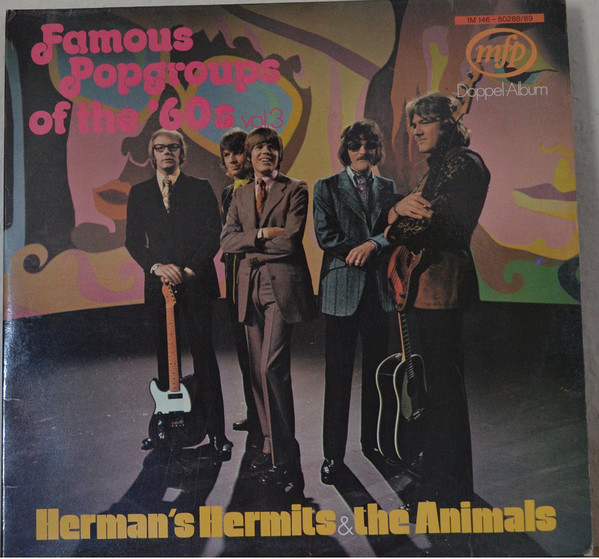 Herman's Hermits & The Animals - Famous Popgroups Of The 60's (2xLP, Comp)