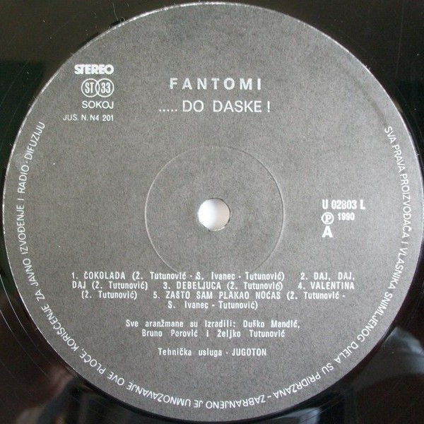 Fantomi - ..... Do Daske! (LP, Album, Promo)