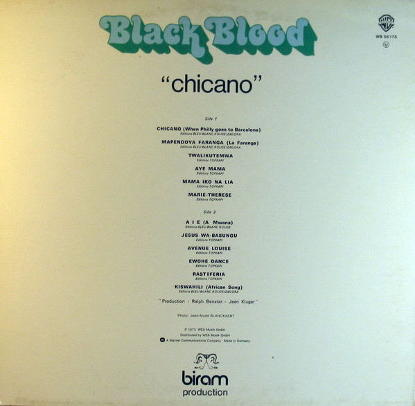 Black Blood (2) - Chicano (LP, Album)