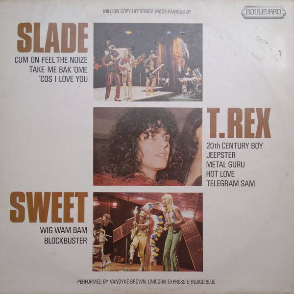 Various - Million Copy Hit Songs Made Famous By T. Rex, Slade And Sweet (LP, Comp)