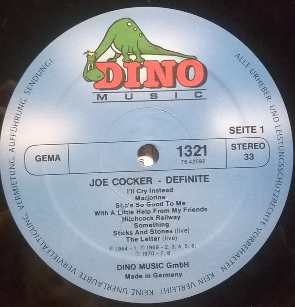 Joe Cocker - Definite 1964-1986 (LP, Comp, Gat)